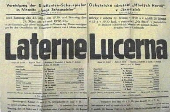 Plakát Mladých herců z roku 1943